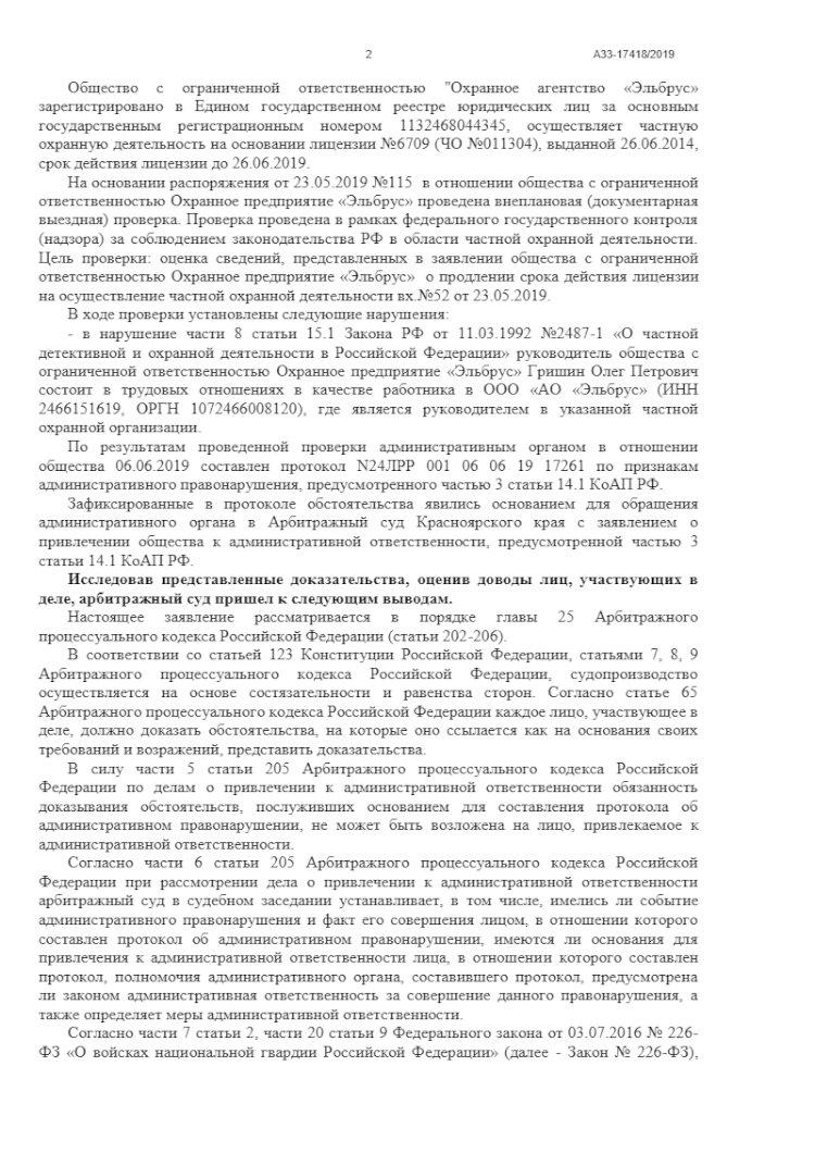 Директор ЧОП